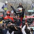Sebastian Vettel, campeón del mundo, en el GP Brasil