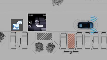 Park Assist 3.0 - Durch Ultraschallsensoren kann ein Fahrzeug selbststaendig in quer zur Fahrbahn stehende Parkluecken einparken